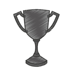 Trophy winner award isolated icon vector