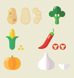 Veg set ii vector