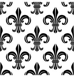 Victorian royal fleur-de-lis seamless pattern vector