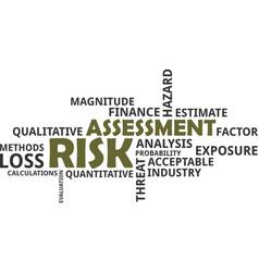 Word cloud - risk assessment vector