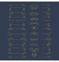Set of vintage graphic elements for design vector