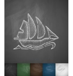 Sailing ship icon vector