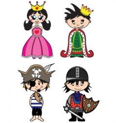 fairytale characters vector image