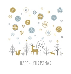 Christmas snow vector