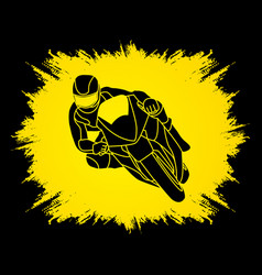 Motorcycle racing graphic vector