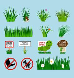Lawn signs set for garden vector