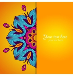 Template of greeting card with flower vector image