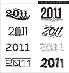 2011 typographic vector