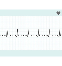 Normal electrocardiogram ecg eps 8 vector