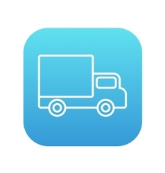 Delivery van line icon vector