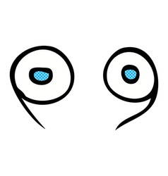 Comic cartoon eyes vector