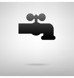Water faucet black icon vector
