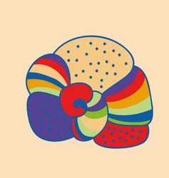 Colorful abstract seashell vector