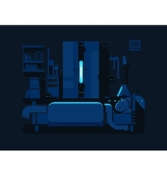 Bedroom mystic flat design vector