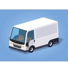 Low poly white cargo van vector image