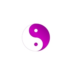 Yin yang symbol - black and white vector