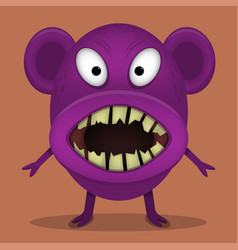 Angry horror monster vector