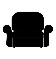 armchair the black color icon vector image