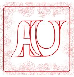 Au monogram vector
