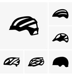 Bike helmets vector image