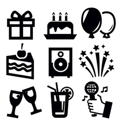 Birthday icon vector