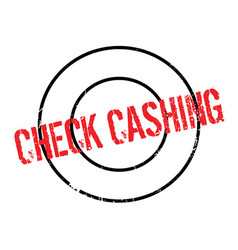 Check cashing rubber stamp vector
