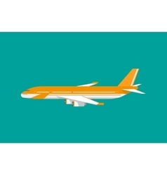 Civil aviation travel passenger air plane vector image