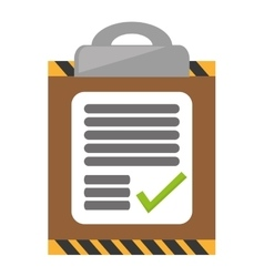 Clipboard check list delivery work report vector