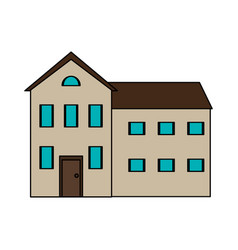 colorful image cartoon facade comfortable house vector image vector image