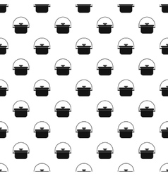 Cooking cauldron pattern simple style vector