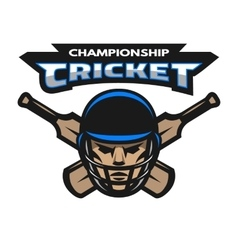 Cricket player and bats vector image