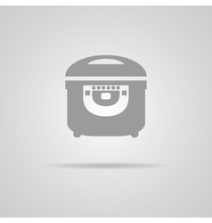 Electric cooker icon vector