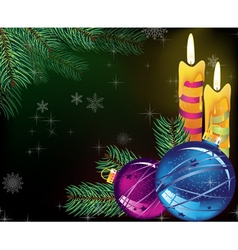 Festive evening christmas background vector