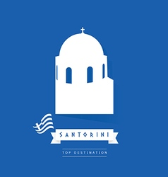greek island santorini icon in white color vector image vector image