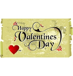 Happy Valentines day vintage background vector image vector image