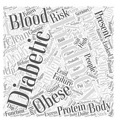 Kidney problems in diabetics who are obese word vector
