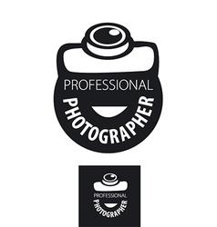 Logo camera for professional photographer vector