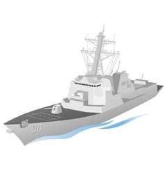 Naval Ship vector image vector image