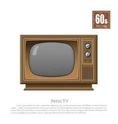 retro tv in realistic style on white background vector image