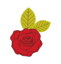 Rose flower icon image vector