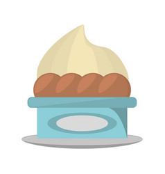 sweet cupcake delicious isolated icon vector image