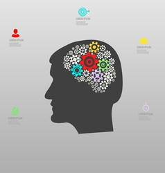 Thought process infographics vector
