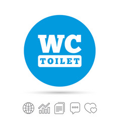 Wc Toilet Sign Icon Restroom Symbol Vector Image