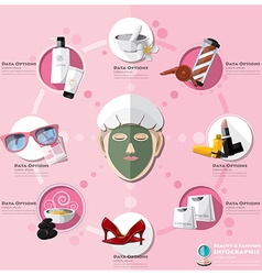 Woman shopping beauty and fashion lifestyle vector