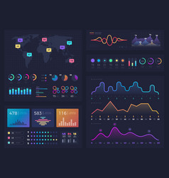 workflow charts and diagrams infographic useful vector image vector image