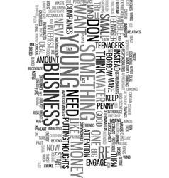 Young entrepreneurs text word cloud concept vector