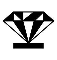 Diamond on a pedestal icon simple style vector