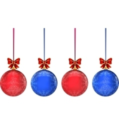 Christmas multicolor balls on white background vector
