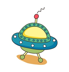 icon space ship vector image
