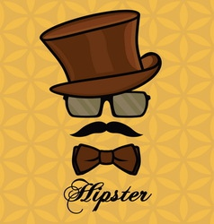 hipster sa brkovima2 resize vector image